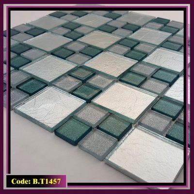 کاشی شیشه ای مدل شطرنجی